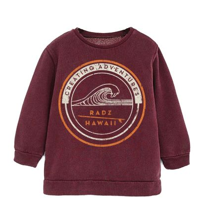 Sweatshirt Radz Hawaii Women Burgundy