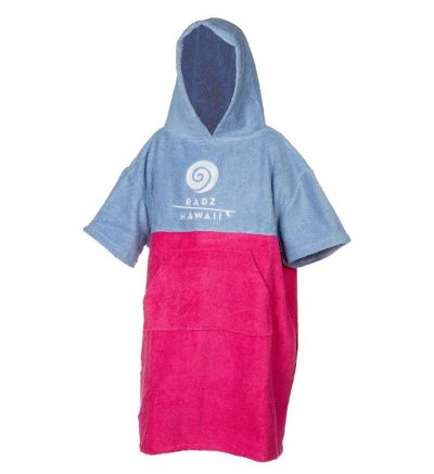 Poncho Toalla Bicolor Radz Hawaii Junior Rosa/turquesa