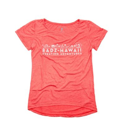 T-Shirt Short Sleeve Women  FIREBRICK