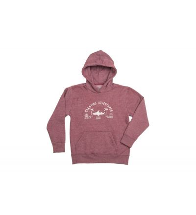 Hoodie Radz Hawaii Junior Shark Burgundy